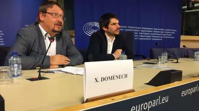 """Domènech pide en la Eurocámara apoyo para un referéndum """"con garantías"""""""