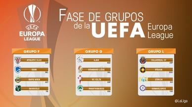 Estos son los rivales de los equipos espa�oles en la fase de grupos de la Europa League.