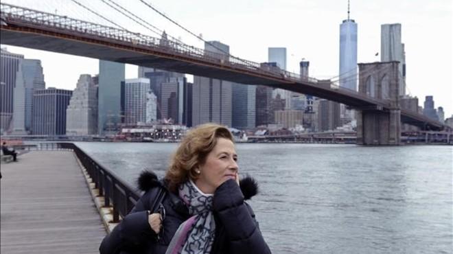 Julia Navarro en Nueva York, donde ha presentado y donde est� ambientado su libro 'Historia de un canalla'.