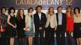 Los lectores del diario Marta González, Mónica García, Antonio Herrera, Robert Álvarez y Eva Navarro, y sus acompañantes.