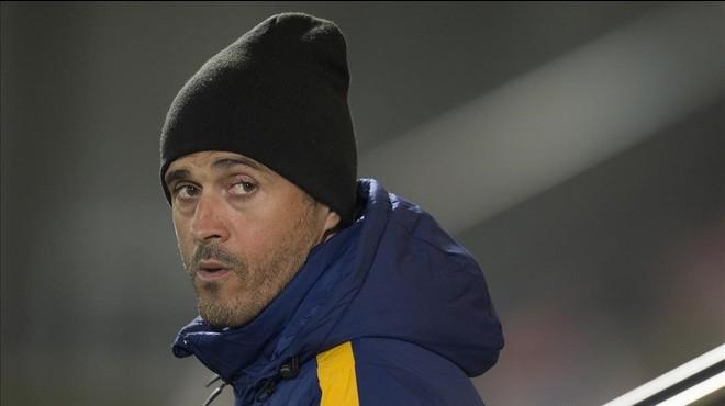 """Luis Enrique: """"No m'agrada jugar tres vegades amb el mateix rival en 11 dies"""""""