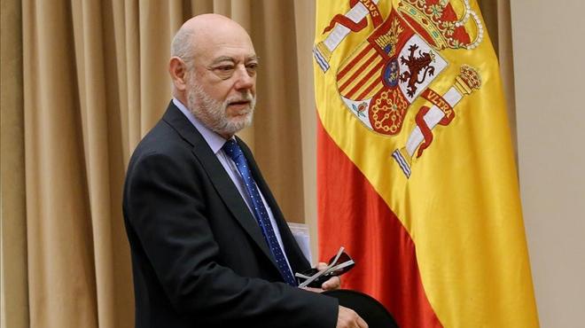 """El fiscal general niega """"cualquier seguidismo"""" al Gobierno frente a los casos de corrupción"""