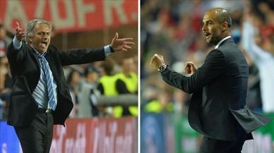 Mourinho y Guardiola, en dos momentos de su carrera.