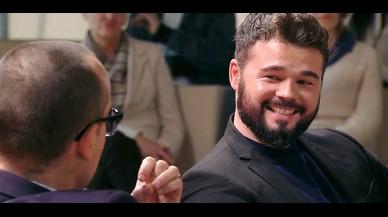 Gabriel Rufián en el programa 'Chester in love' de Cuatro.