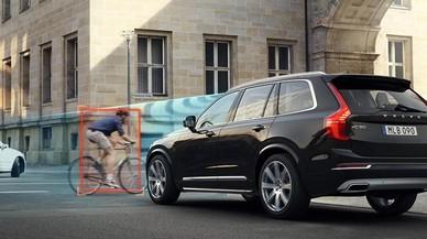 El Volvo CX90 que usar� Uber, en acci�n.