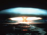 Bomba nuclear detonada en el atol�n de Mururoa, en la Polinesia francesa, en 1971.rancesa.�