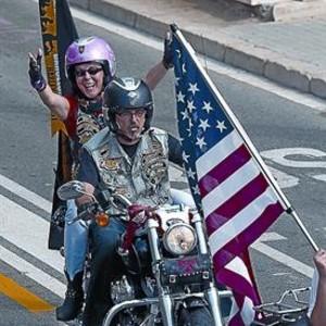 La iconografía norteamericana dominó la escena callejera.
