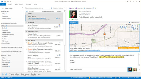 Integraci�n de mapas en un correo con Outlook.