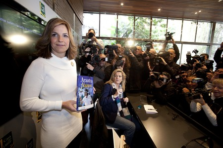 Arantxa Snchez Vicario, durante la presentacin de su libro 'Vamos!'.