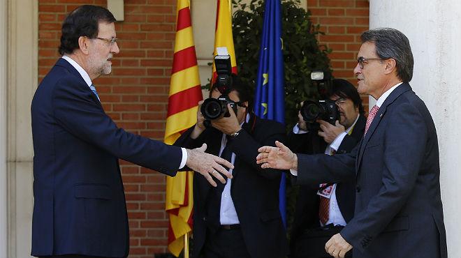 Mariano Rajoy recibe a Artur Mas en la Moncloa