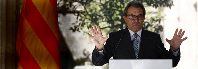 Artur Mas, en el Palau de la Generalitat, este viernes.