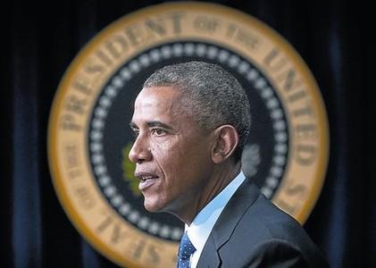 Barack Obama, en su intervenci�n sobre el �bola, el viernes en Washington.