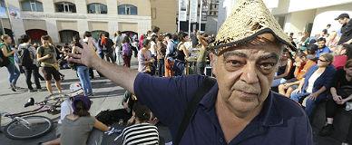 Pere Cuadrado, en una manifestaci�n, esta semana en Barcelona.