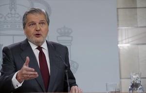 Íñigo Méndez de Vigo, ministro portavoz, ayer en la Moncloa.
