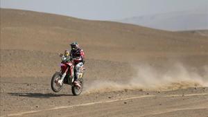 Benavides es el nuevo líder en motos del Dakar 2018