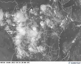 África central vista desde el satélite.