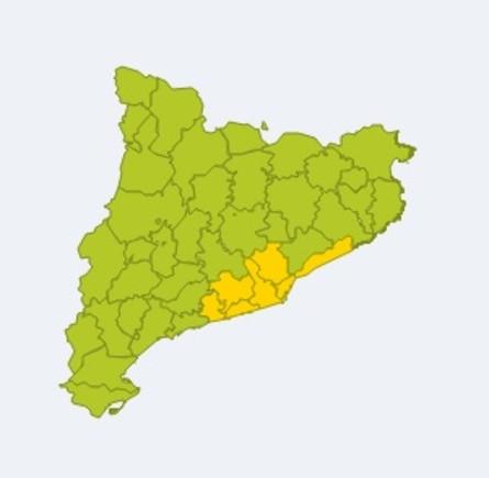 Avisos por viento en Catalunya este sábado.