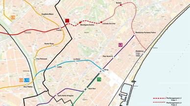 Primer pas per a l'ampliació del metro al nord de Badalona