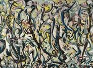 Fragmento del gran 'Mural' de 1943 que Jackson Pollock pintó para Peggy Guggenheim.