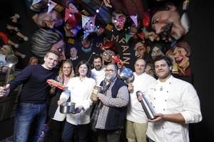 Jordi Armengol (Òpera Samfaina), Anna Sans (pastelería Sans), Anna Casadevall (La Xicra); Òscar Manresa (asesor gastronómico de Òpera Samfaina); Francesc Moner (El Xillu), Josep Maria Masó (bEAuTy), en Òpera Samfaina.