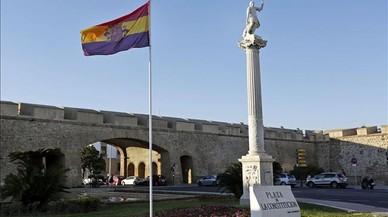Sabotatge contra la bandera republicana hissada per l'Ajuntament de Cadis