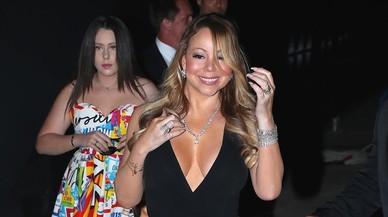 Mariah Carey, en la fiesta solidaria deLeonardo DiCaprio, en Saint Tropez.