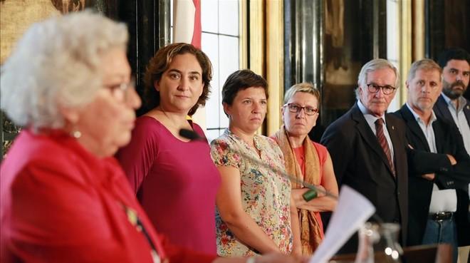 Maria Assumpció Vilà, el pasado septiembre, cuando tomó posesión como Síndica de Barcelona.