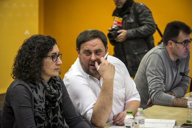 """Oriol Junqueras: """"Mantenemos que el candidato es Mas"""""""