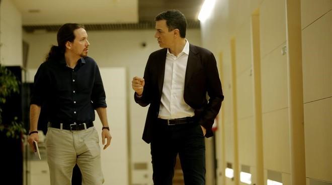 As� les hemos contado la reuni�n entre Pedro S�nchez y Pablo Iglesias
