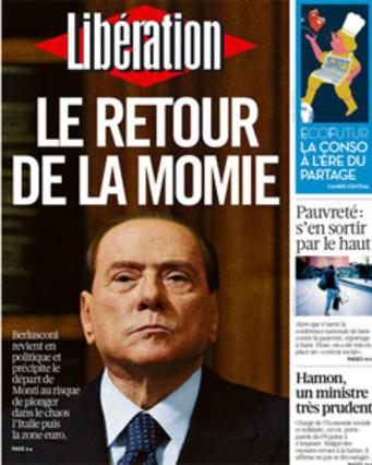Estupor en la prensa europea por el regreso de Berlusconi