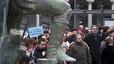 Las seis marchas barcelonesas llegan a la plaza de Sant Jaume tras concentrarse en la de Catalunya