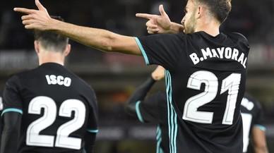 El Madrid troba un altre suport en Borja Mayoral (1-3)