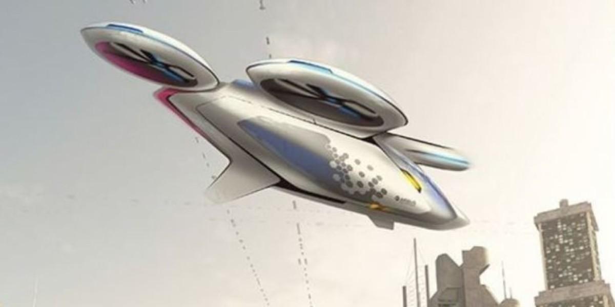 Uno de los prototipos de coche volador de Airbus.