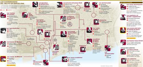 Las coordenadas del delito en Barcelona.
