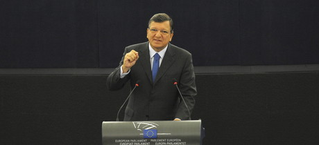 El presidente de la Comisin Europea, Jos Manuel Durao Barroso, durante su discurso del estado de la Unin, este mircoles, en el Parlamento Europeo. 