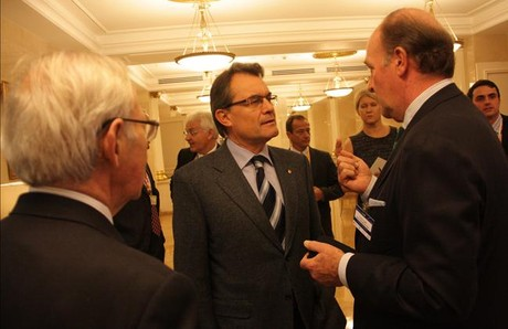 El presidente de la Generalitat, Artur Mas, en el Frum Empresarial Catalunya Rssia, este mircoles. ACN