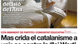&#34;Mas fa crida el catalanisme a unir-se contra la 'llei Wert'&#34;, a la portada d'EL PERIDICO