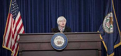 Janet Yellen, presidenta de la Reserva Federal de EEUU, en una imagen del pasado mes de marzo.
