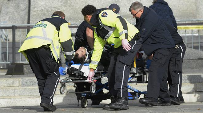 M�ltiples disparos en el Parlamento de Canad�