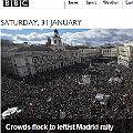 La prensa internacional se hace eco de la marcha de Podemos