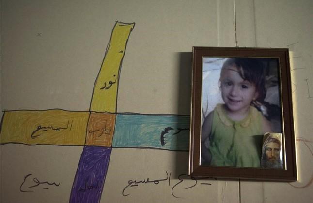 Cristina, niña cristiana raptada por el Estado Islámico en Irak.
