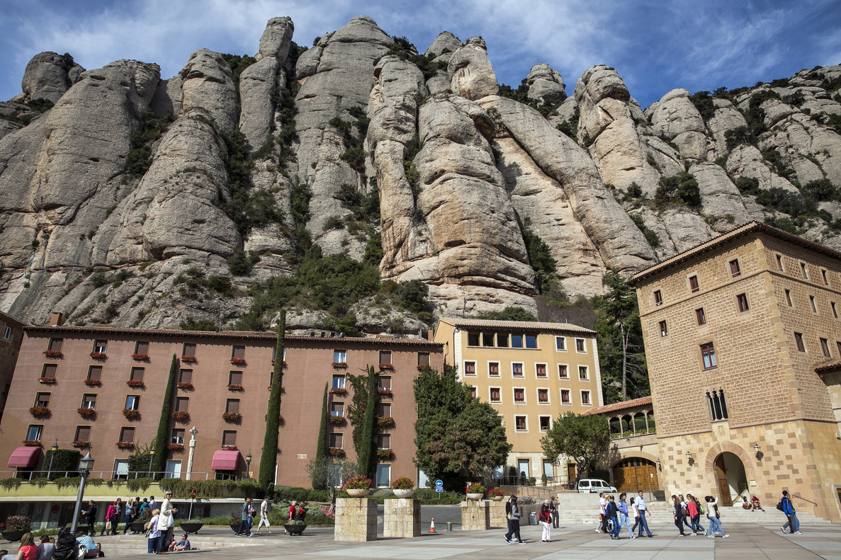 Vista panorámica de Montserrat.