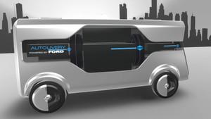 Imagen del prototipo Autolivery con el que Ford apuesta por el futuro.