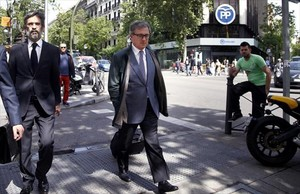 Jordi Pujol se dirige a la Audiencia, en Madrid, el pasado mes de abril.