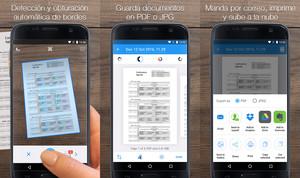 La aplicación iScanner.