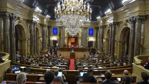Pleno en que se aprobó la ley de transitoriedad