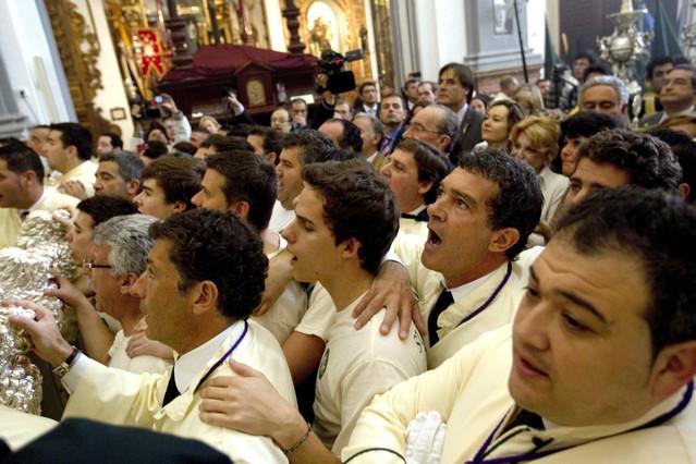 Antonio Banderas, fiel a su cofrad�a en la Semana Santa malague�a