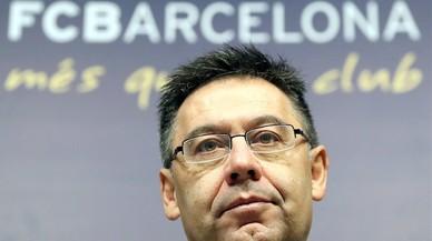 Josep Maria Bartomeu, en su comparecencia final del 2016 para hacer el balance del año.