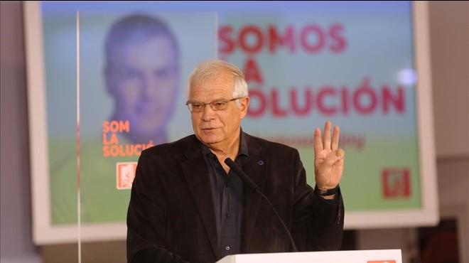 """Josep Borrell: """"Iceta no ha participat en cap manifestació contra el TC"""""""