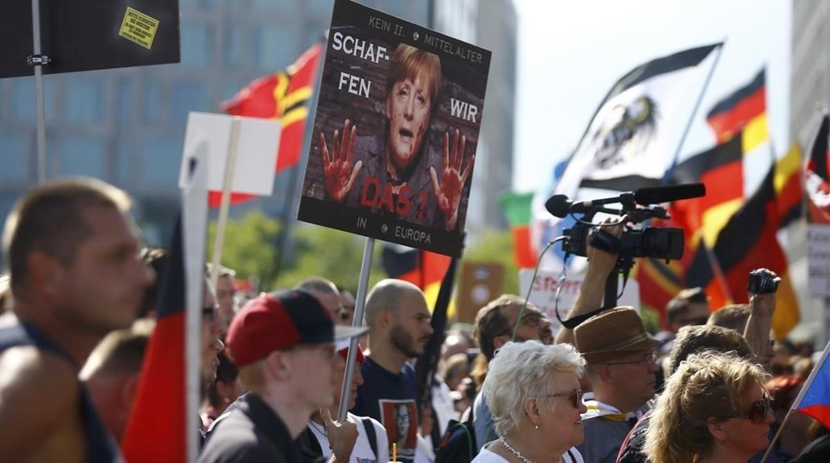 Ultraderecha alemana encontra de los refugiados